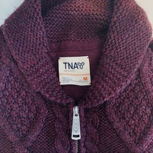 Aritzia TNA Wool Zip-Up Sweater